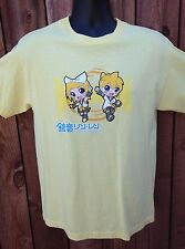 ~NEW~ ANIME KAGAMINE RIN LEN HATSUNE MIKU YELLOW T-SHIRT MEDIUM