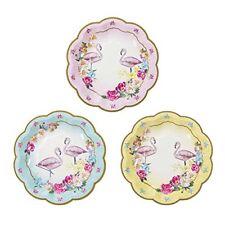 Talking Tables Truly Flamingo assiettes en carton flamand Rose avec Motif Flo...