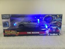 BACK to The FUTURE II- DeLorean Diecast 1:24 Jada 8 inch Lights Free Shipping
