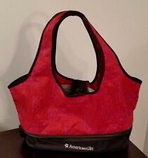 Authentic American Girl Ag Place 2 Doll Carrier Tote With Storage Red Black