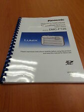 PANASONIC LUMIX DMC FT25 INSTRUCTION MANUAL USER GUIDE PRINTED 155 PAGES A5