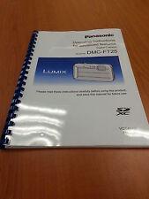 Panasonic Lumix Dmc Ft25 instrucciones MANUAL guía del usuario impreso 155 páginas A5