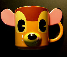 DISNEY STORE Mug 3D Bas Relief BAMBI Dimensional Cup Ears 12 oz NEW