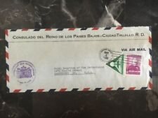 1940 Netherlands Consulate In Dominican Republic Diplomatic Cover To Washington