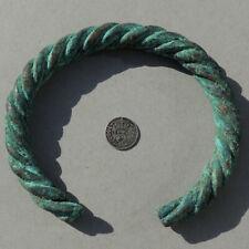 a large ancient twisted copper african bracelet currency mali #191