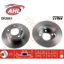 TRW DF2651 x2 Jeu de 2 disques de frein arrière  Audi 100 A6 Avant Skoda VW Pass