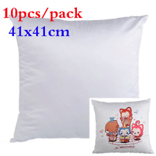 10pcs/carton Plain White Sublimation Blank Pillow Case Fashion Cushion Cover