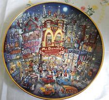 Golden Apple Plate Bill Bell Coa (McDonald'S)