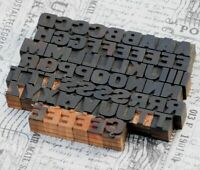 A-Z Alphabet Holzbuchstaben 18 mm Lettern Holzlettern Vintage shabby wood type