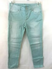 Simply Vera Wang size 4 light green blue pants womens 32 x 27 jeans skinny ankle