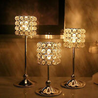 1 Pc ELEGANT Crystal Candlestick Candle Holder Wedding Party Table Tealight Gift