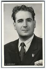 Giacomo Lauri-Volpi, chanteur lyrique italien Vintage silver print Tirage arge