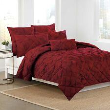 DKNY Diamond Tuck King Quilt in Crimson Red