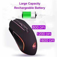 X9 Wireless Gaming Mouse Rechargeable Silent LED Backlit Optical Ergonomic Mice