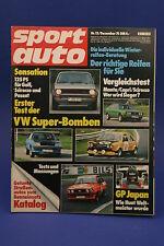 Sport Auto 12/76 Commodore GS/E Capri Escort RS + Poster