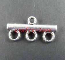 50pcs Tibet Silver 3-to-1 Bar Connectors 22x11x3mm 10985
