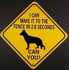 GERMAN SHEPHERD TO FENCE IN 2.8 SEC CAN YOU?  Alum Dog Sign  Won't rust or fade