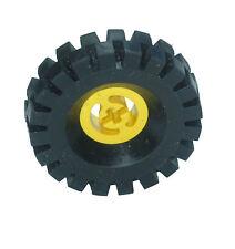 Falta Lego Ladrillos.3481 & 3634 Amarillo Y Negro Rueda Centro grandes & neumático 17x43