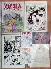 ZORA la vampira 1998 Il ritorno - Tavole originali completa 1° versione INEDITA!