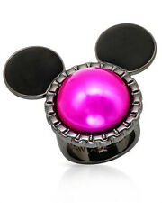 DISNEY  Mickey Mouse Lovely New Ring in Two Tone Base Metal Size 6.