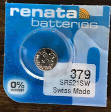 Renata 379 Battery (SR521SW) Swiss Made 1 pc