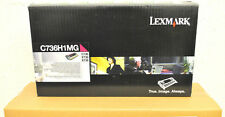Cartouche Toner Original LEXMARK C736H1MG C736 X736 X738 Encre Magenta Genuine