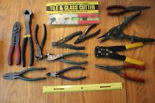 Lot of 13 Clipper Wire Cutting tools Cutters WISS M2 MATCO TCT78 stripper pliers