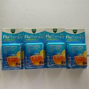 Vicks Flu Therapy Day Severe cold&flu Honey Lemon Tea 24 Total Exp 5/21