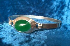 Stylish Sterling Silver Chrysoprase Bracelet - Hook Clasp