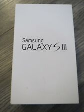 Samsung S3 lll empty box only with Verison manuals ~ white ~ smartphone