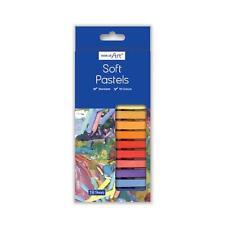 18 x Soft Colour Pastels Drawing Art Artistic Smudging Blendable Craft Pastels