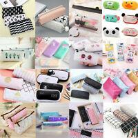 Cartoon Capacity Pen Pencil Case Pen Box School Stationery Cosmetic Bag Gifts