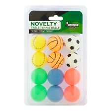 Table Tennis Ball Ping Pong Balls Novelty Pink Blue Soccer Basket Ball 12 PACK