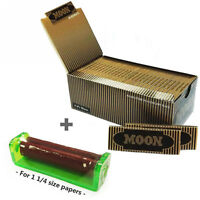 1 Box Moon Gold 1 1/4 inch Cigarette Tobacco Rolling Papers 77*45mm 2400 leaves