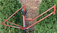Vintage Schwinn Women's World Tourist Cruiser Red Bike Frame Size 19in TT 21in