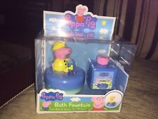 PEPPA PIG BATH FOUNTAIN WITH BATH AND SHOWER GEL 150ml NEW BOXED XMAS GIFT TOY