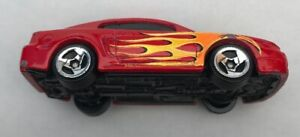 Rare Vintage Hot Wheels Toy Car 1:64 1998 Red 99 Mustang Birthday #2 Flames