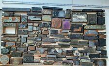 Vintage Printing Press Blocks 146 Wood Metal Stamps Colorado Denver Advertising