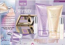 AVON EVE DUET EAU DE PERFUME SPRAY 2 body lotions & purse sprays makeup pallet