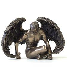 Winged Male Nude Angel Sitting Statue Sculpture Figure - WE SHIP WORLDWIDE