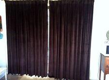 Authentic Vintage Silky Soft Cotton Chocolate Brown Velvet Curtains