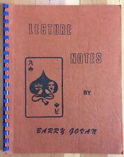 Vintage 1976 Lecture Notes By Barry Govan Australia