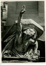 Amiens, le sépulcre de Jules Verne Vintage silver Print Tirage argentique  1