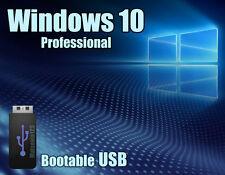 Windows 10 Pro Professional 64bit Licence + bootable USB key - 100%Genuine