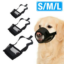 Pet Dog Anti Bite Mesh Mouth Muzzle Cover Stop Chewing Adjustable Size S M L