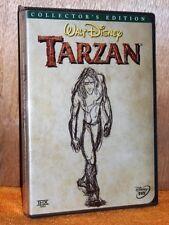 Tarzan (DVD, 2000, 2-Disc Set) NE Tony Goldwyn Minnie Driver Phil Collins DISNEY