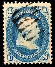 1861 US SC#63 1c Blue Franklin Fresh Used
