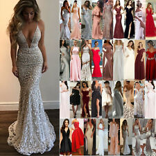 Women Vintage Formal Wedding Evening Cocktail Gown Party Prom Bridesmaid Dress
