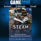$5.15 Steam 5 USD US Dollar Prepaid Steam Wallet Game Card Code - USA