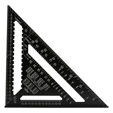 12Inch Aluminum Alloy Speed Square Ruler Triangle Angle Square Measuring Guide E